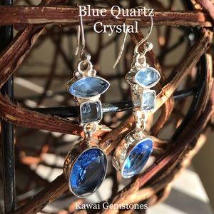 Jewelry - ✨Blue Quartz 925 Earrings✨Handmade✨